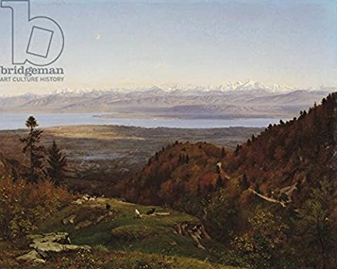 Mont Blanc Seen from St. Cergues, 1869 (Oil on Canvas) (175036), Poster, 30 x 20 cm