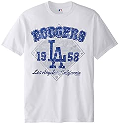 MLB Los Angeles Dodgers Men's 58J Tee, White, Large