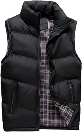 YOUTHUP Mens Gilets Casual Outdoor Quilted Body Warmer Winter Classic Sleeveless Jackets