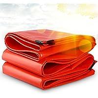 lonas Paño de lluvia de lona Impermeable Protección solar Ultraligero Linóleo Anti-ácido Camión de triciclo inodoro resistente a la corrosión 0.38 mm Grueso 210g / m2 (Color : Orange-3x6m)