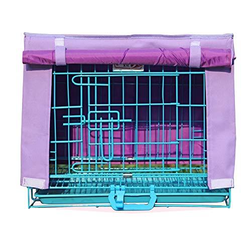 LDIW Cubierta para Jaula de Perrode Cubiertas de Perrera aptas para Interiores/Exteriores Protectores de Jaula para Perros,Púrpura,46x30x52cm