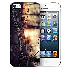 Snoogg Dried Branch Printed Protective Phone Back Case Cover For Apple Iphone 5 / 5S