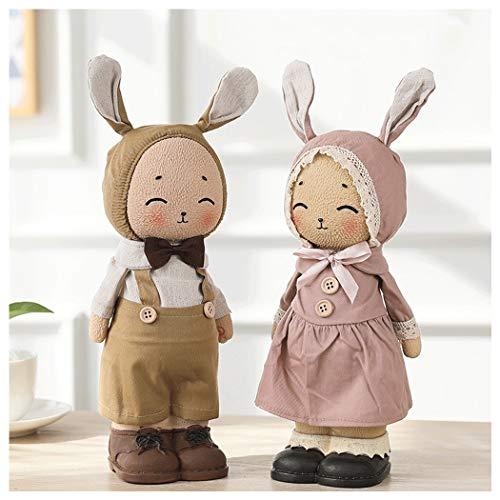 YONGYONG Ornamente Cartoon Niedlich Kalender Stifthalter Schreibtischlampe Paar Mädchen Herz Schlafzimmer Dekoration Schreibtisch Dekoration Wohnzimmer (Farbe : Mittel)