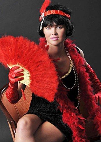 Red Flapper Girl Kostüm Zubehör Set (Kostüm Red Flapper Girl)