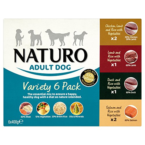 Naturo Wet Dog Food Adult Variety 6 x 400 g (Pack of 4)