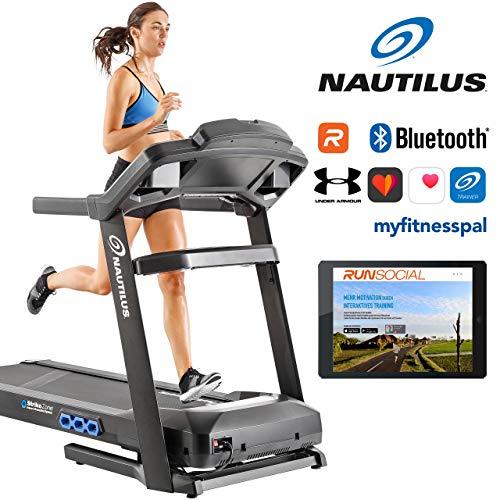 Nautilus T626 : Cinta De Correr T626 Plegable, Color Negro-26 programas Con Velocidad Hasta 20 Km/h-Aplicación movil Smartphone Android y IOS ,Bluetooth , Altavoces, MP3 y Aplicación Carreteras 3D