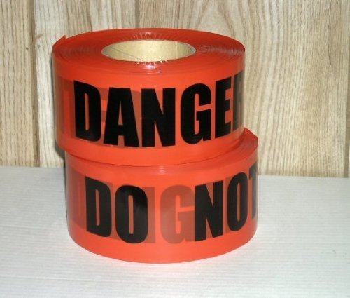 Storm Stripes Barricade Tapes, DANGER DO NOT ENTER - Individual Roll by Storm Stripes