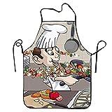 Zhengzho Cartoon Cook in The Kitchen Sexy Divertente Creativi Grembiuli da Cucina per Gli Uomini Fidanzato Regali