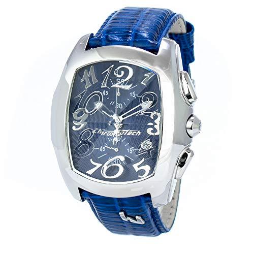 Chronotech orologio analogico quarzo uomo con cinturino in pelle ct7895m-43