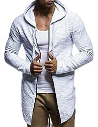 LEIF NELSON pour des Hommes Pullover Pull à Capuche Hoodie Sweat Veste Basic Manche Longue Oversize Shirt Sweater LN6301