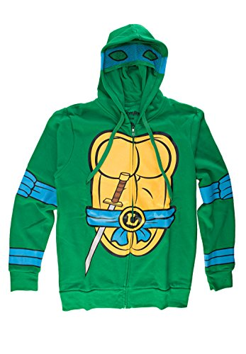 Teenage Mutant Ninja Turtles I Am Leonardo Herren Zip-Up Kostüm Kapuzenpullover | XXL (Ninja Turtles Shirt Kostüme)