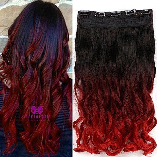 Besten Brush Hair Hot (Neverland Dip Dye Ombre Extensions Clip In Extensions Echthaar Haarverlängerung Haarteile Bunte)
