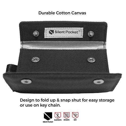 Silent bolsillo Key Fob protector pantalla para inalámbrico coche llaves-RFID bloqueo jaula de Faraday
