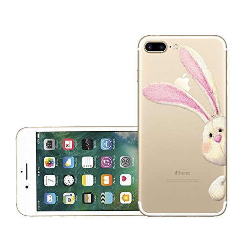 Custodia iPhone 7 plus Qissy® TPU Cover iPhone 7 Plus 5.5 pollici Custodia Bumper Morbida Crystal Clear Silicone elefante per Apple i Phone 7 Plus 3