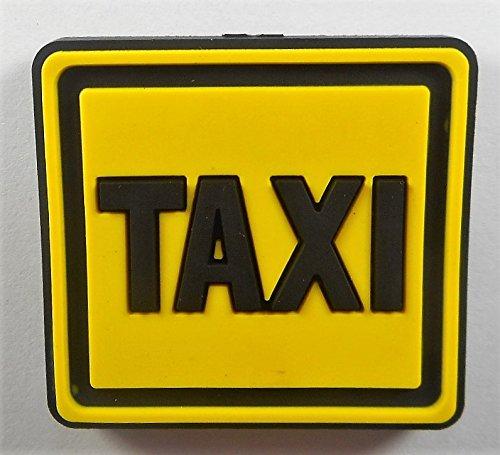 Preisvergleich Produktbild Magnet Taxi Schild 4 x 4 cm gummiert Kühlschrank Figur Deko GWU 10494 B
