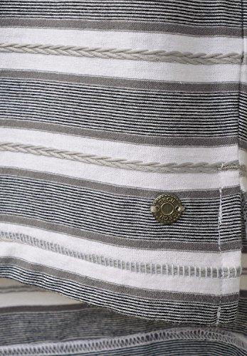 CECIL Damen Oversize Shirt mit Streifen graphit light grey (grau)