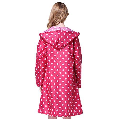 Femme Manteau de Pluie Imperméable – LATH.PIN Vêtements/ Manteaux Poncho Cape de Pluie Impermeable avec Capuche Raincoat Taille Unique Rose