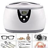 Homdox 600ML Ultraschall Gerät Digitale Ultrasonic Cleaner Reiniger Reinigungsgerät für Zuhause Brillen Uhren Schmuck Zahnersatz -