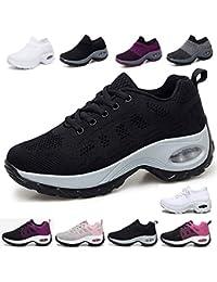 61f910f4 2019 Zapatos cuña Mujer Zapatillas de Deportivas Plataforma Mocasines  Primavera Verano Planas Ligero Tacon Sneakers Cómodos