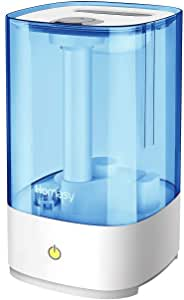 Homasy Cool Mist Humidifiers 4.5L [UPGRADED], 28dB Super Quiet Air Humidifier for Cough, Aroma Oil Diffuser with 30 Working Hours, Auto Shut off,