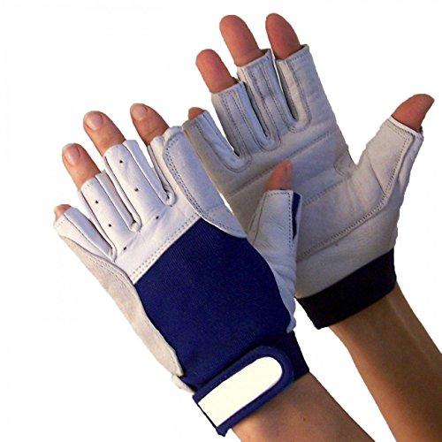 Navyline Segelhandschuhe Super Soft - 5 Finger geschnitten, Größe:M