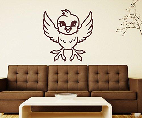 Wandtattoo Vogel Spatz lustig sticker Tattoo Tier Tür Auto Aufkleber Wohnzimmer Schlafzimmer Kinderzimmer 1B206