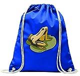 'Turn Bolsa 'Rana en el mar hojas Estanque de ranas Quark con cordón-100% algodón de...