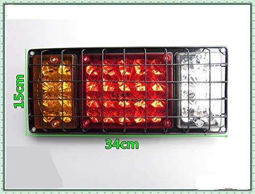 12V//24V LED Darr/êt Arri/ère sallume La Remorque De Feu Indicateur De Queue,24V Awsgtdrtg Lampe De Queue De Camion