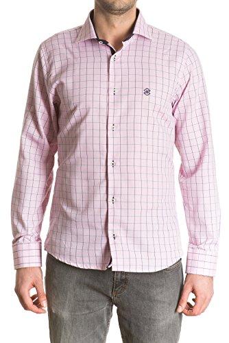 di-prego-camicia-a-quadretti-colore-rosa-di-manica-lunga-con-pulsanti-per-regolare-la-larghezza-uomo