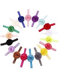 Colorful Flower 18pcs Cute Kids Girls Hair Accessories Elastic Band Flower Headband Hair Accessories