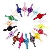 Best Accessories For Newborn Girls - Colorful Flower 18pcs Cute Kids Girls Hair Accessories Review