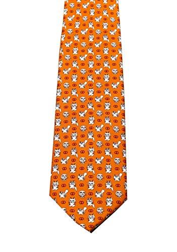 Für Männer Gucci-krawatten (CL - Gucci Orange Patterned Cat Tie)