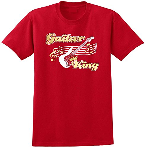 Electric Guitar King - Red Rot T Shirt Größe 87cm 36in Small MusicaliTee (Prs Picks)