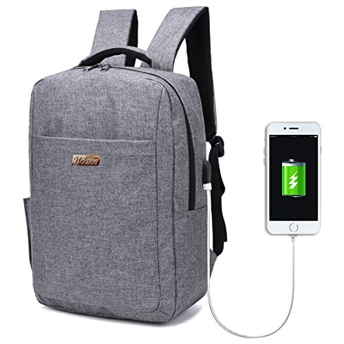 14a104bdce Hozee Unisex Laptop Backpack Waterproof Nylon Daypack for Travel   Outdoor  Sports College School Bag with USB Charging Port