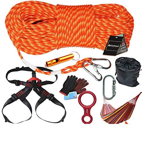 GYHHHM Seilset, 8mm Parachute Rope Durable Camping Survival Hilfs-Rope Set,Orange,10M