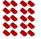 LEGO 20 x Roof Tile 2X4/45° Red Sloped Brick New Part No. 3039 by LEGO