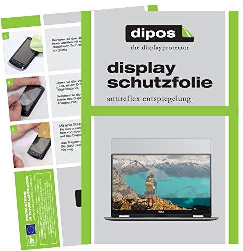 dipos I 2X Schutzfolie matt passend für Dell XPS 13 2-in-1 (9365) Folie Displayschutzfolie