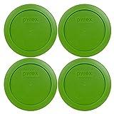 Pyrex 7200-pc rund 2Cup Deckel für Glas Schalen (4, Rasen grün)