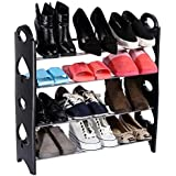 Tran Taran 4 Tier Free Simple Standing Home Organizer Stackable Shoe Rack