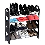 #3: Tran Taran 4 Tier Free Simple Standing Home Organizer Stackable Shoe Rack