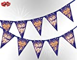 Bonfire Night the 5th of November Guy Fawkes Mask mix Bunting Banner 15 flags for guaranteed simply stylish party decoration by PARTY DECOR