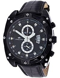 Lindberg&Sons LS11-3234-3_schwarz-45mm - Reloj , correa de cuero color negro