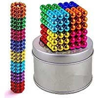 Vachanamrutam Innovation Multi-Color 5 MM 8 Colors Balls for Kids Degree Round Magnetic Stainless Steel Solid Balls for…