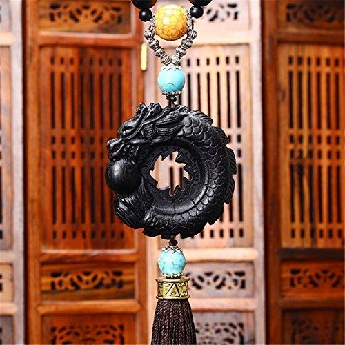 Zcar Car Anhänger Home Hanging Crafts Innen Dekoration Dragon Ball Carving-für Fahrzeug Büro Wand Dekor Gebetskette Buddhismus Christian Muslime buddhistischen Lieferungen (Christian-wand-dekor)