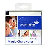 Legamaster 7-159599 Magic-Chart Notes, elektrostatische Haftnotizen, 10 x 10 cm, 300 Blatt, sortiert