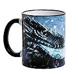 Drago di ghiaccio tazza Viserion per Game of Thrones appassionati di Elbenwald ceramica blu 320ml