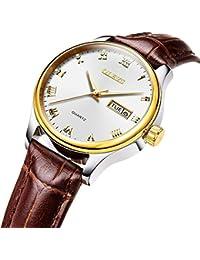 9ce5d35ea5b5 olevs mujeres de Big Face reloj de cuarzo resistente al agua correa de  cuero de los relojes…