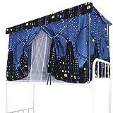 Tenda oscurante per letto a castello tenda da letto antipolvere, per dormitorio, tende da cabana per letto rialzato/mezza altezza, zanzariera in tessuto ombreggiante per studenti, Ville-3 Pcs, 1.2m