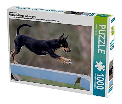 Preisvergleich Produktbild Ein Motiv aus dem Kalender Fliegende Hunde beim Agility 1000 Teile Puzzle quer (CALVENDO Tiere)