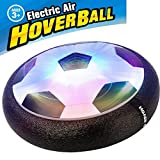 AMENON Kids Air Power Football Size 4 Soccer Boys Girls Sport Children Toys Training Football Indoor Outdoor Disk Hover Ball Game with Foam Bumpers and Light Up LED Lights